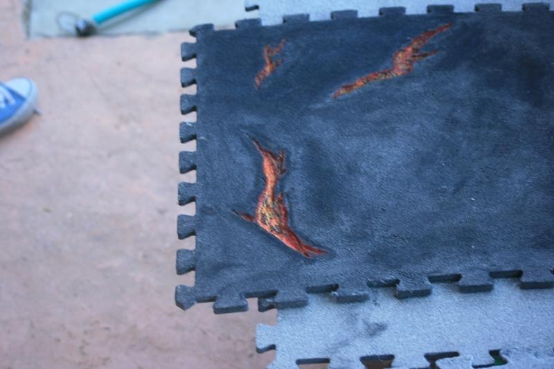 Plateau de jeu à partir de tapis de sol puzzle 37593095802_c85140086f_o