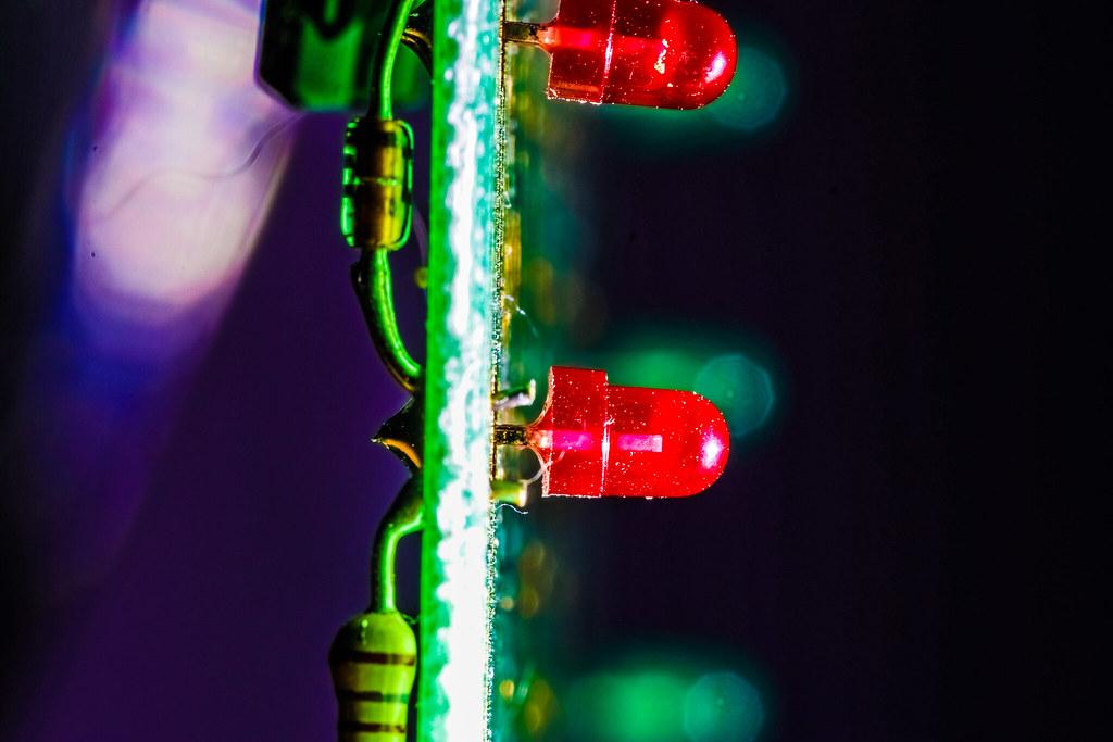 sidelit circuitboard