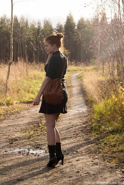 Kaunis Syksy 2017 Asukuvat Päivän asu OOTD outfit styleblogger tyylibloggaaja Zara paita Hame Esprit Laukku Ompelimo Rokita Fashion bloggerstyle