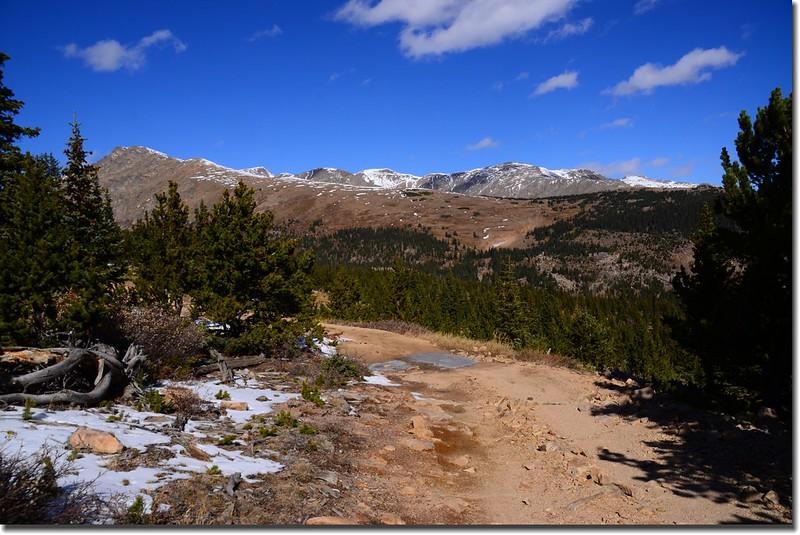 Looking Northwest at James Peak et al from Bill Moore Lake Trail near 11,185'