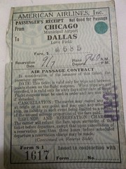 Chicago Municipal Airport - Ticket from Dallas to Chicago