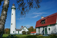 New Presque Isle Lighthouse on Lake Huron