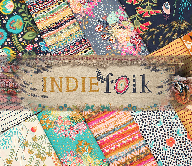 Art Gallery Fabrics Indie Folk Collection by Pat Bravo