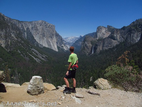 Enjoying the views from Artist Point in Yosemite National Park, California