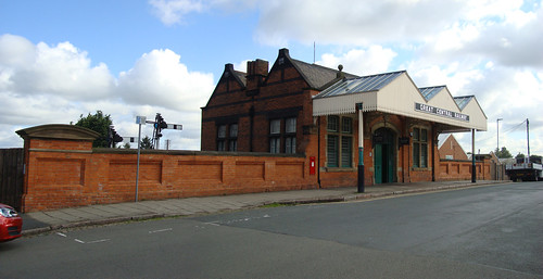 The entrance to the Great Central heritage railway's station in Loughborough
