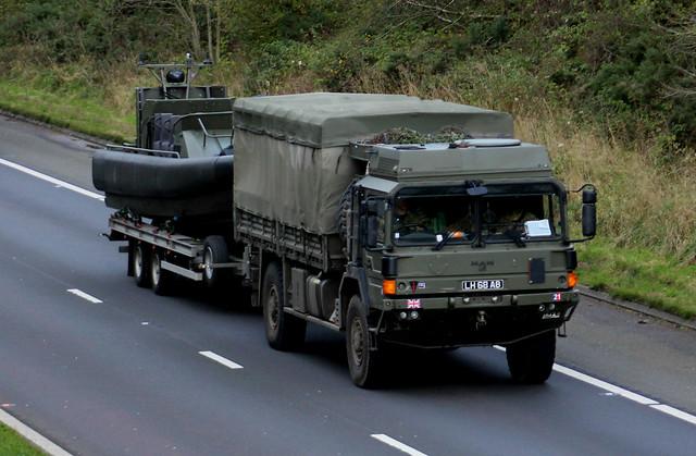 Military Vehicle MAN 9 Ton 4w Cargo LH68AB at M74 Larkhall.