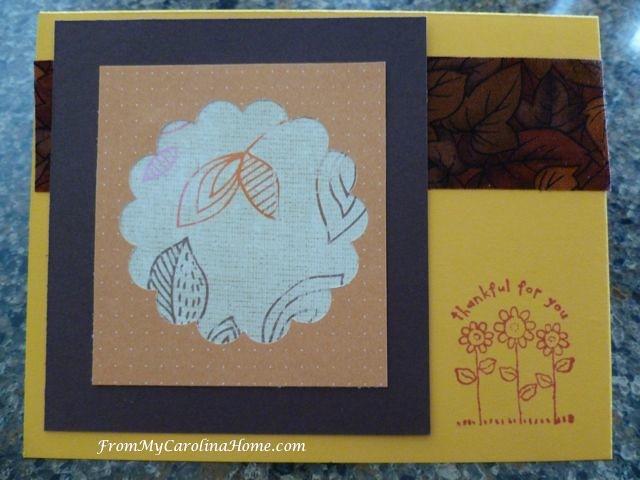 November cards at From My Carolina Home