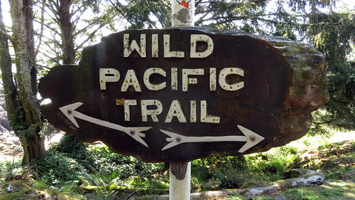 Sign for Ucluelet's Wild Pacific Trail