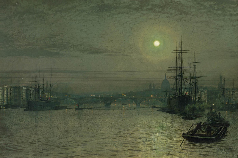 London Bridge - Night by John Atkinson Grimshaw, 1884
