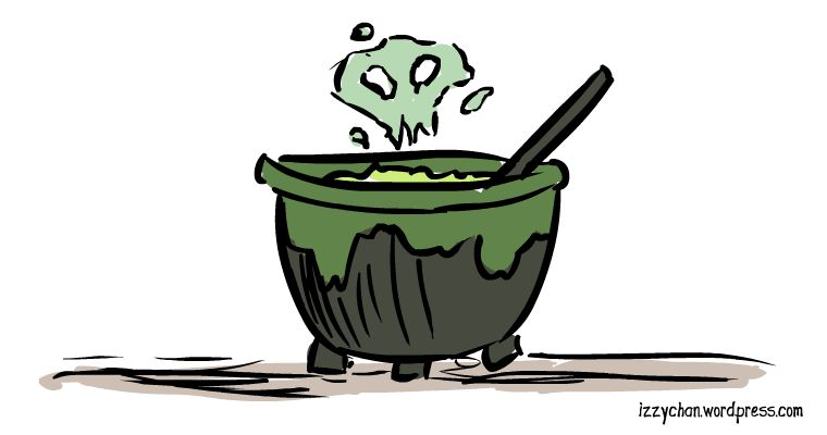 drawlloween cauldron
