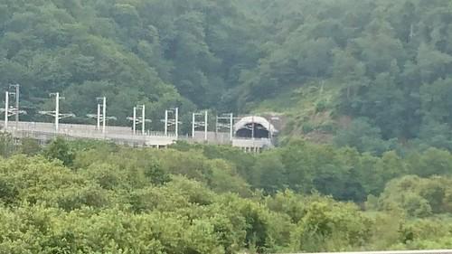 青函トンネル北の入り口