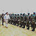Beni,North Kivu,DR Congo: The Deputy Special Representative of the United Nations Secretary General in the DRC,David Gressly inspects a guard of honor during his visit to Beni .