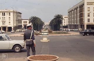 Rabat, Modern street scene. 1972