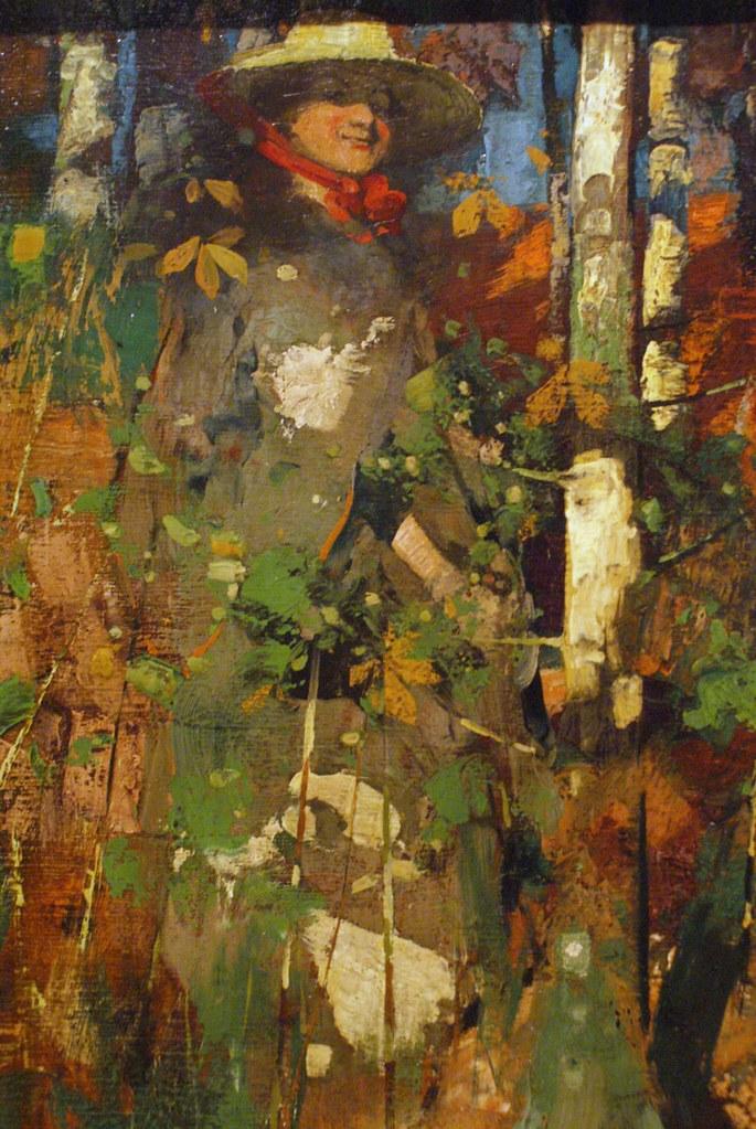 """""""Automn"""" (1888), peinture de George Henry au musée Kelvingrode à Glasgow."""
