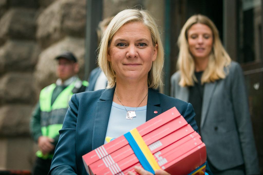 Budgetpromenad med Magdalena Andersson