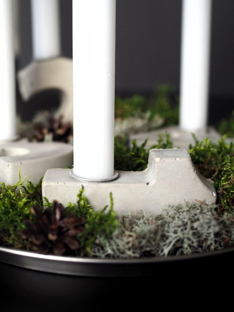 adventtikynttelikkö-betonista