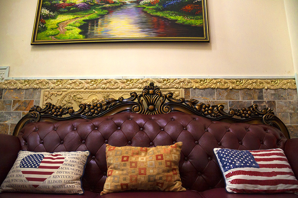 American flag cushions--Saigon