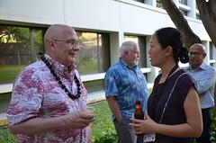2017 Asia Pacific Leadership Program pizza social with East-West Center President Richard Vuylsteke