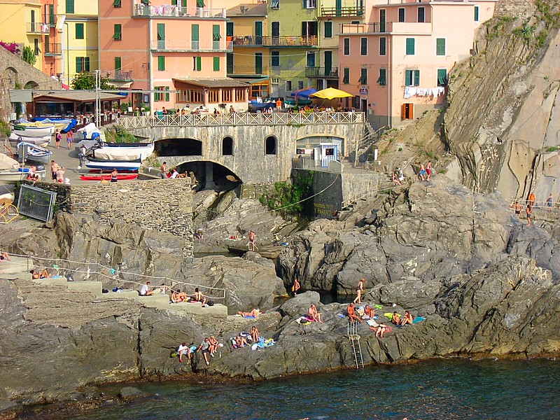 Manarola seaside village Cinque Terre Italy
