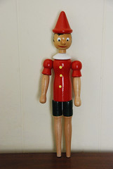 Vintage Wooden Pinocchio Doll