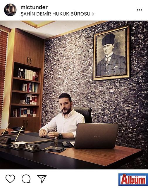 Avukat Şahin Demir, hukuk bürosundan paylaştığı bu fotoğraf ile beğeni topladı.