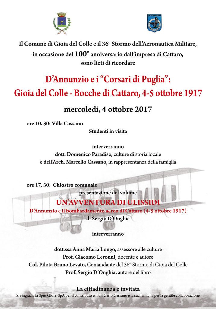 GABRIELE D'ANNUNZIO A GIOIA DEL COLLE