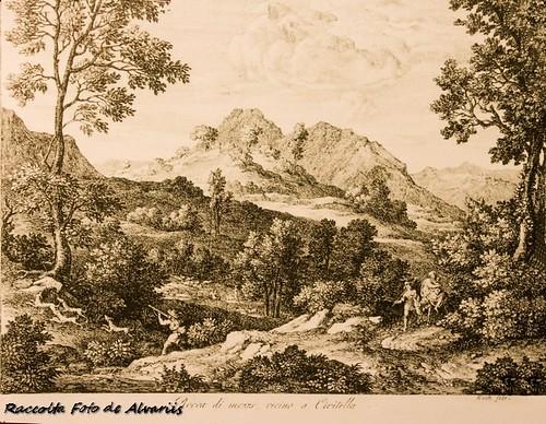 1810 ca 2017 Rocca di mezzo vicino a Civitella, di J. A. Koch in Rocca di Canterano