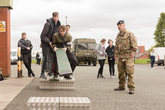 Public Services students at Army Reserve Centre