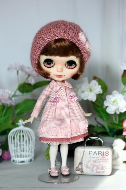 Coat, dress and hat for Blythe
