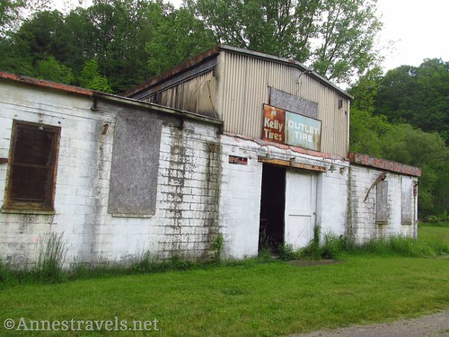 Old tire shop along the Keuka Outlet Trail between Penn Yan and Dresden, New York