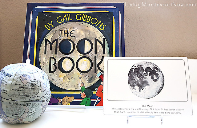 Hugg-a-Moon, Moon Book, and Moon Culture Card