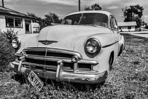An old Chevy on the roadside