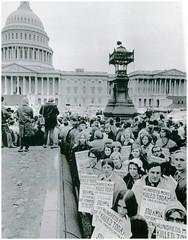 POW families protest Vietnam War: 1972