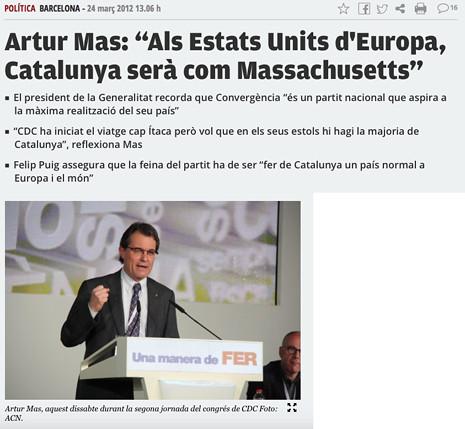 """17j23 del 24 marzo 2012 Artur Mas """"Als Estats Units d'Europa, Catalunya serà com Massachusetts"""" Uti 465"""