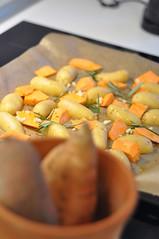 Ofengemüse mit Kartoffeln und Süsskartoffeln