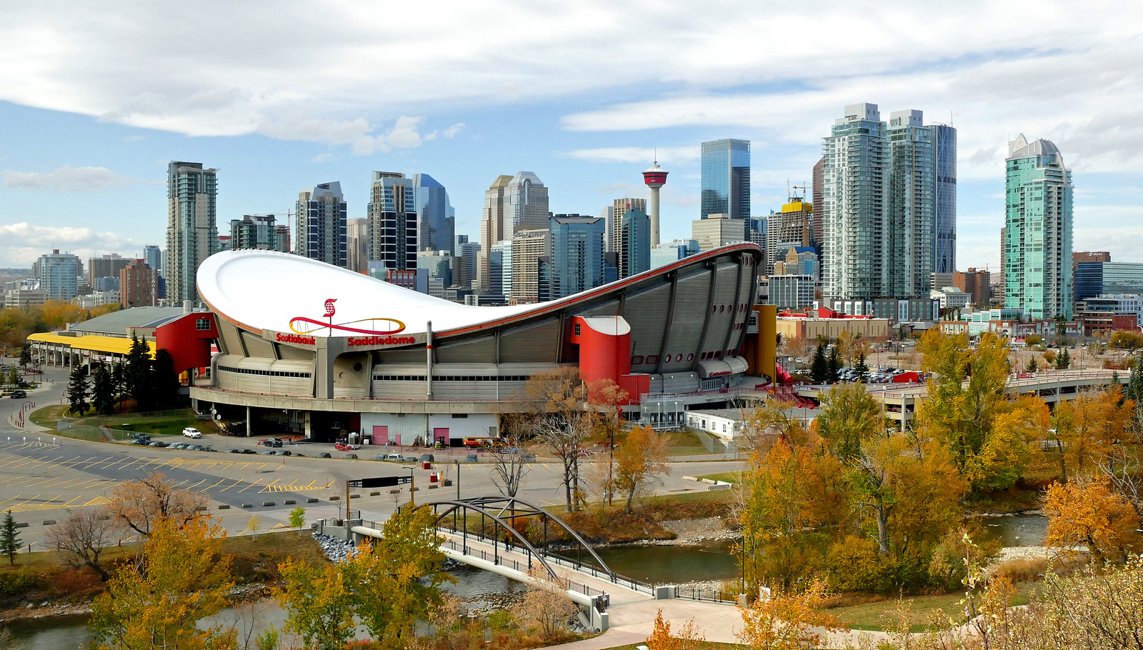 Calgary and Saddledome. Alberta.