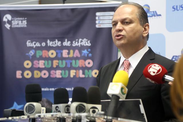 Coletiva de imprensa: anúncio de ações para conter avanço da sífilis no país. Brasília, 31/10/2017.