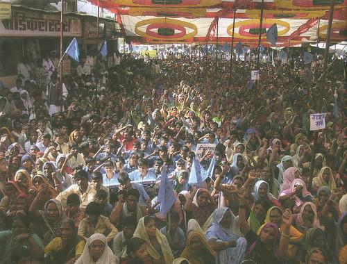 नर्मदा बांध प्रभावित लोगों की रैली, बड़वानी, मध्य प्रदेश