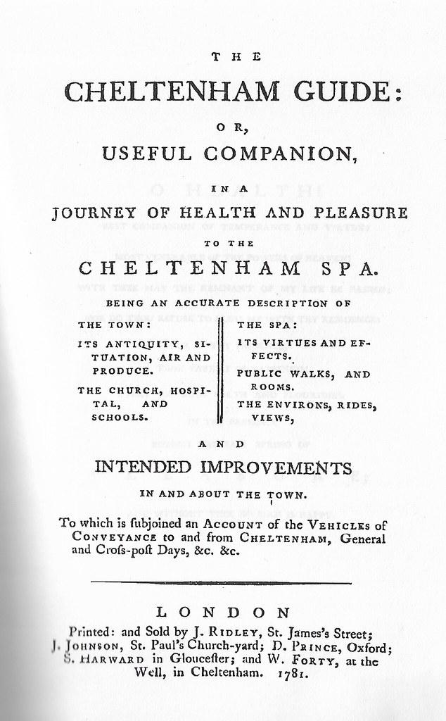 Cheltenham guide weeden butler 1781