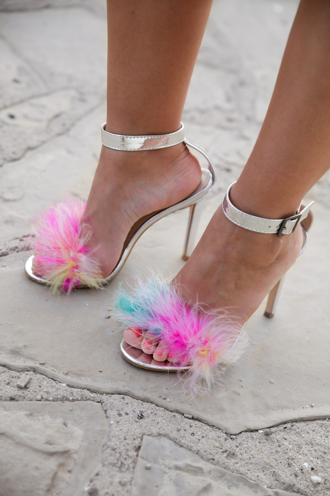 fluffy sandals unicorn life theguestgirl public desire shoes trend alert
