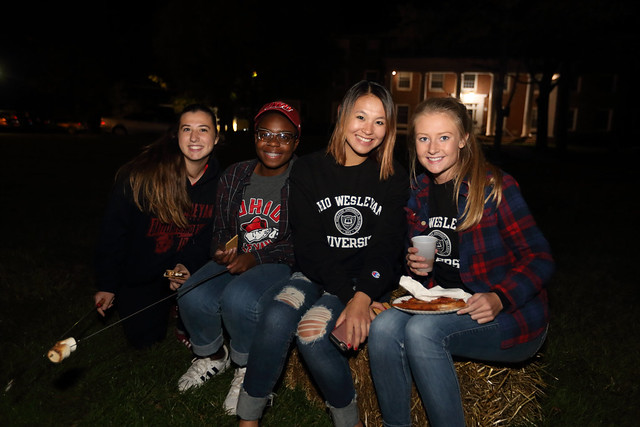 Homecoming Bonfire on the Hill