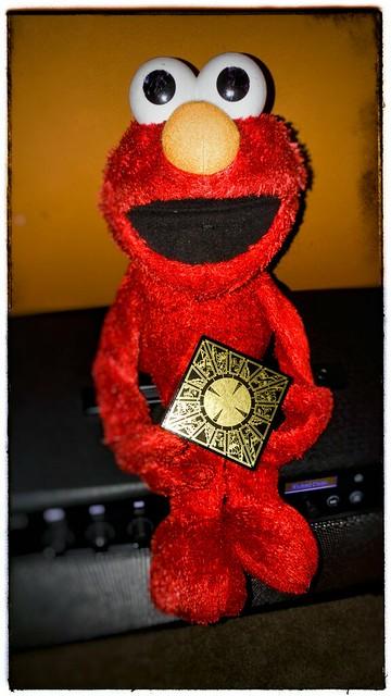 Elmo's new toy