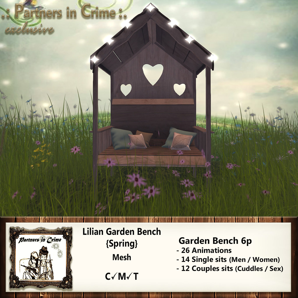 Lilian Garden Bench {Spring} - TeleportHub.com Live!