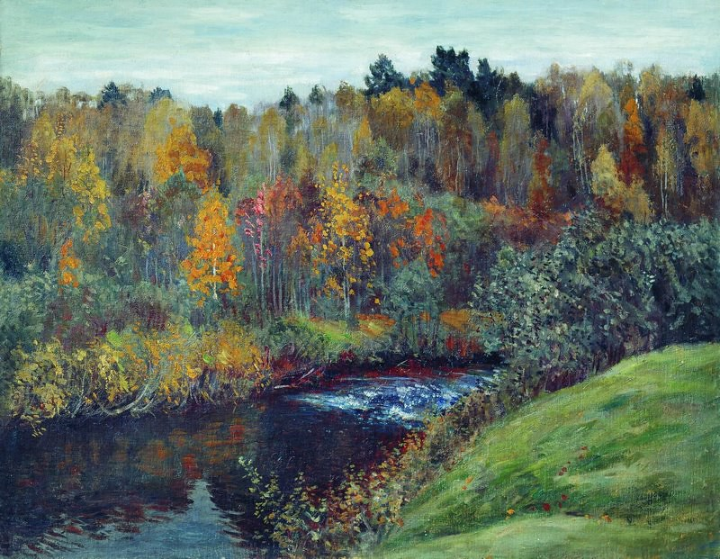 Autumn by Stanislav Zhukovsky (1873 - 1944)