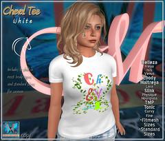 .::MD::. Cheval T-shirt White - Slink, Maitreya, Belleza, Tonic, TMP, Ebody, Fitmesh, standard sizes