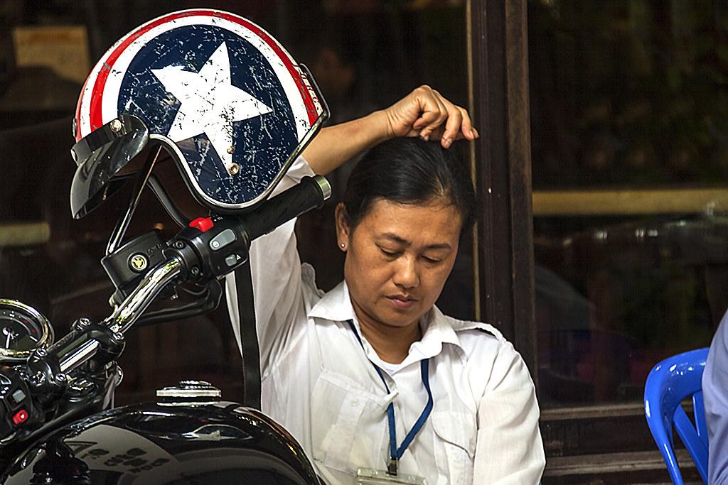 Captain America helmet--Hanoi