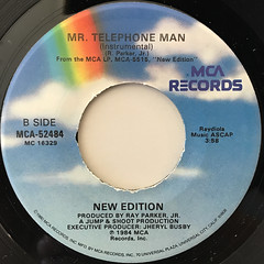 NEW EDITION:MR. TELEPHONE MAN(LABEL SIDE-B)