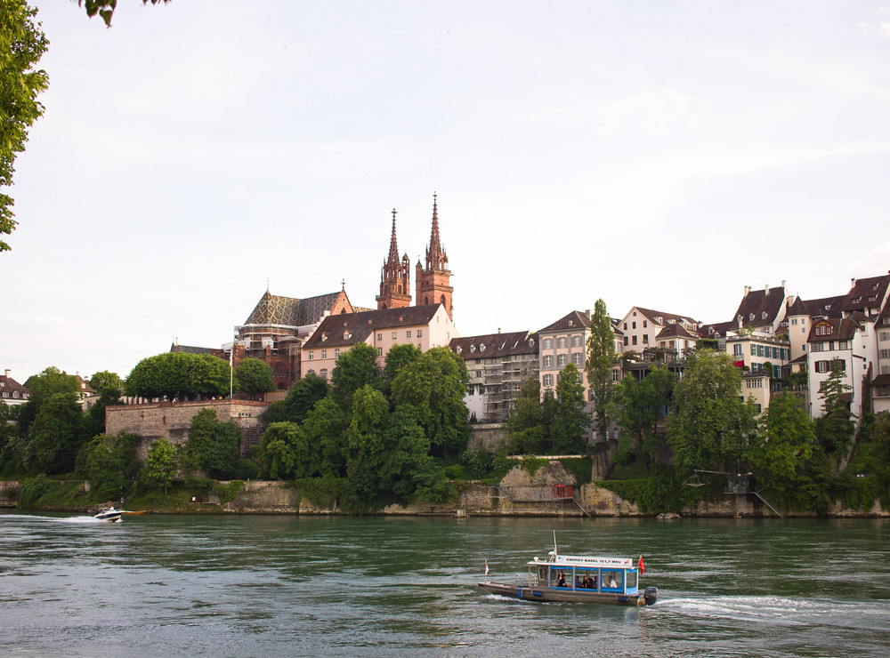 basel riverside overlooking the chapel