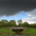 Grim clouds over the canal at Cottam