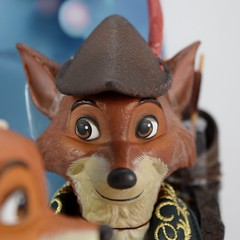 2017 Robin Hood and Maid Marian Designer Doll Set - Disney Store Purchase - Covers Off - Closeup Left Front View of Robin Hood